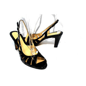 COLE HAAN Patent Leather Slingback Pumps Size 8.5B